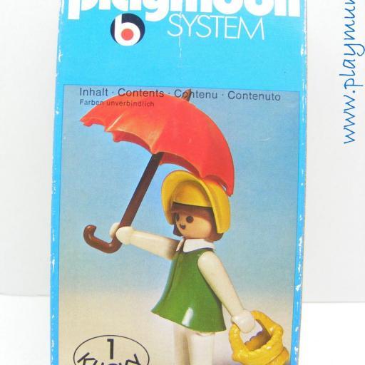 PLAYMOBIL 3345 MUJER OESTE CON PARAGUAS (AÑO 1976 - 1978) [2]