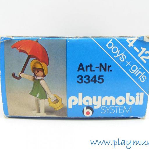 PLAYMOBIL 3345 MUJER OESTE CON PARAGUAS (AÑO 1976 - 1978) [3]