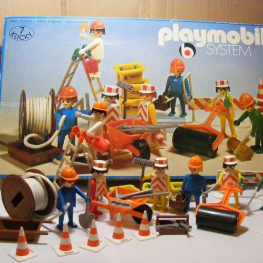 PLAYMOBIL 3400  SET CONSTRUCCION (AÑO 1976-1981)