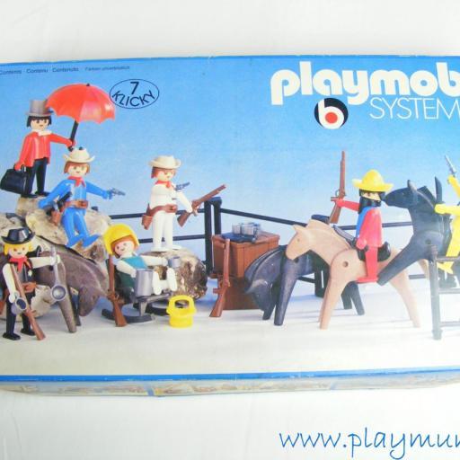 PLAYMOBIL 3407 VAQUEROS Y BANDIDOS (VERSION 1 AÑO 1976 - 1978) [3]