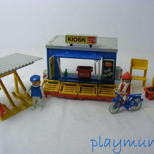 PLAYMOBIL 3418 QUIOSCO Y BICICLETAS (AÑO 1984) [1]