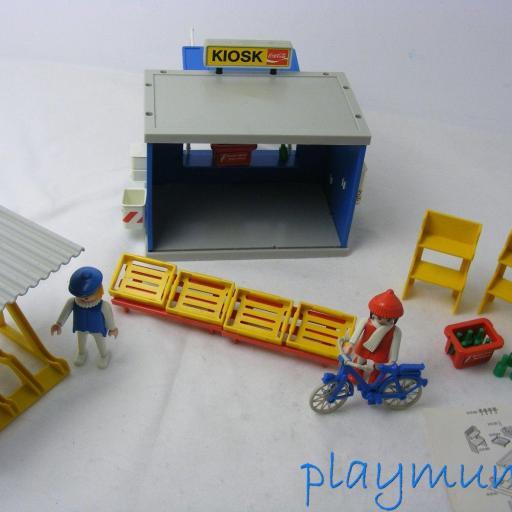 PLAYMOBIL 3418 QUIOSCO Y BICICLETAS (AÑO 1984) [3]