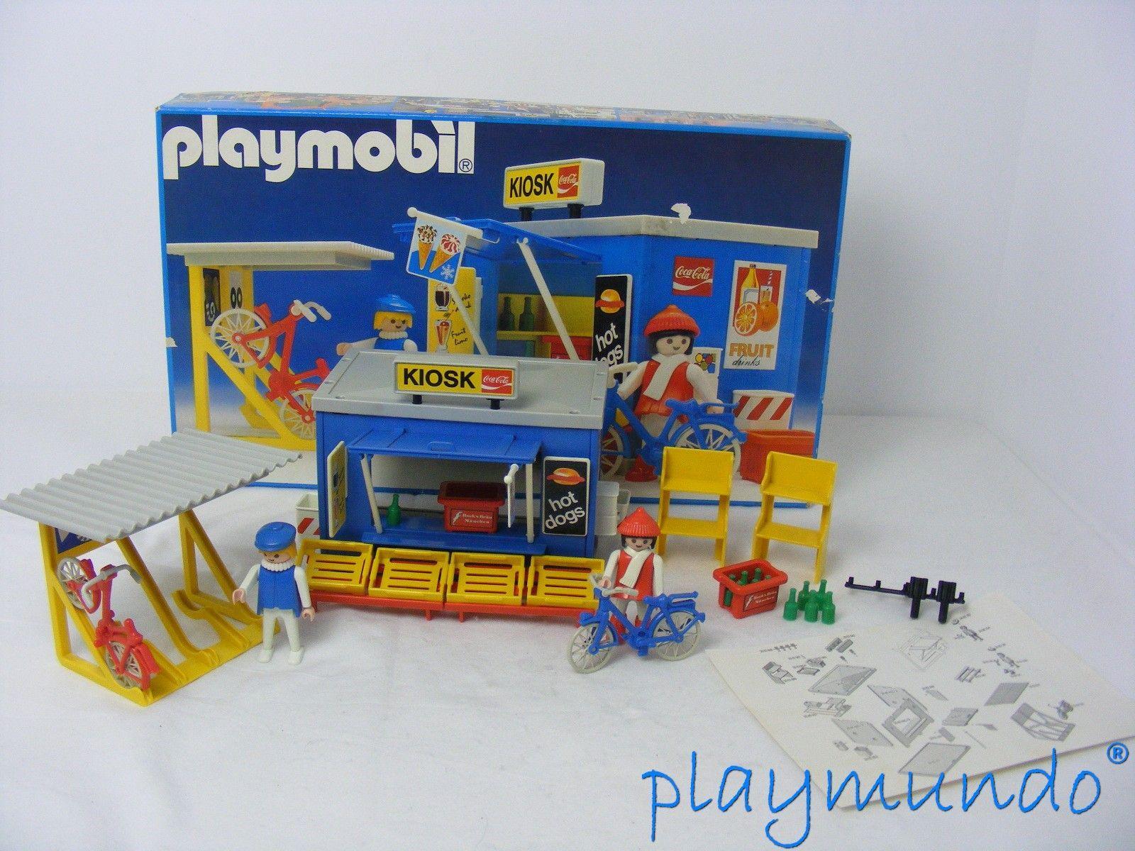 PLAYMOBIL 3418 QUIOSCO Y BICICLETAS (AÑO 1984)