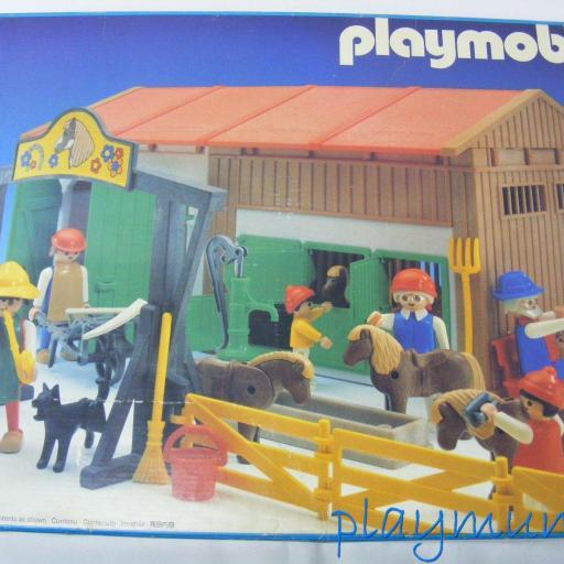 PLAYMOBIL 3436 GRANJA PONYS (VERSION 1 AÑO 1985) [1]