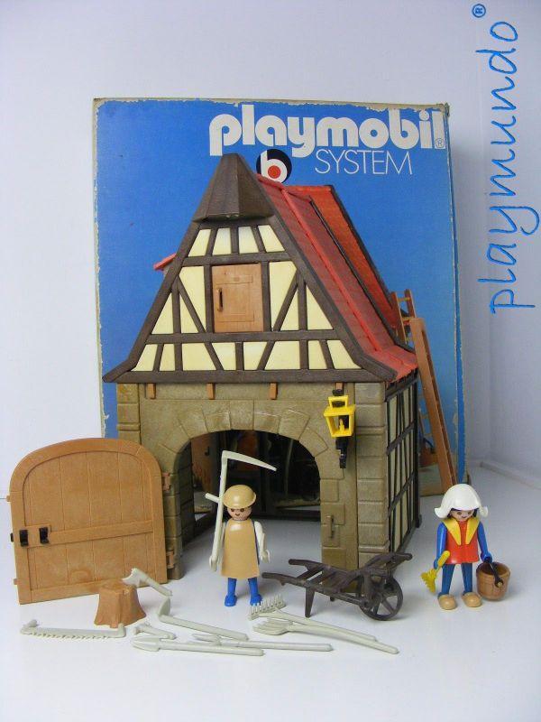 PLAYMOBIL 3443 GRANERO MEDIEVAL (VERSION 1 AÑO 1977)