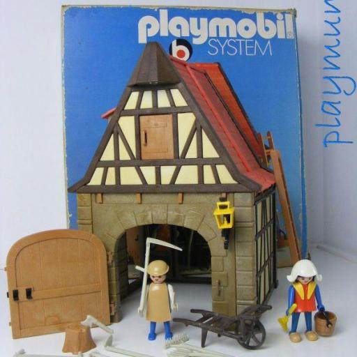 PLAYMOBIL 3443 GRANERO MEDIEVAL (VERSION 1 AÑO 1977)