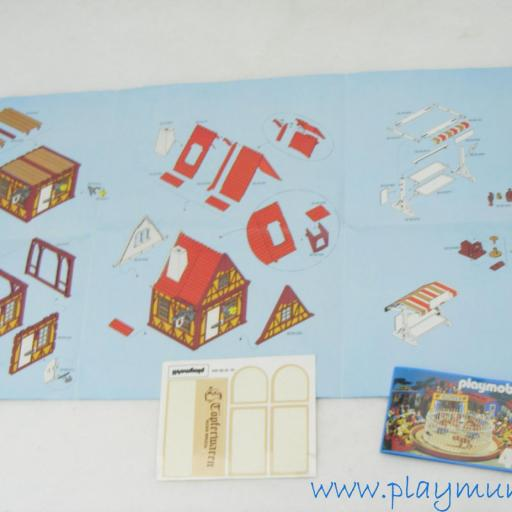 PLAYMOBIL 3455 ALFARERIA MEDIEVAL CON PUESTO (AÑO 1982 - 1993) [2]
