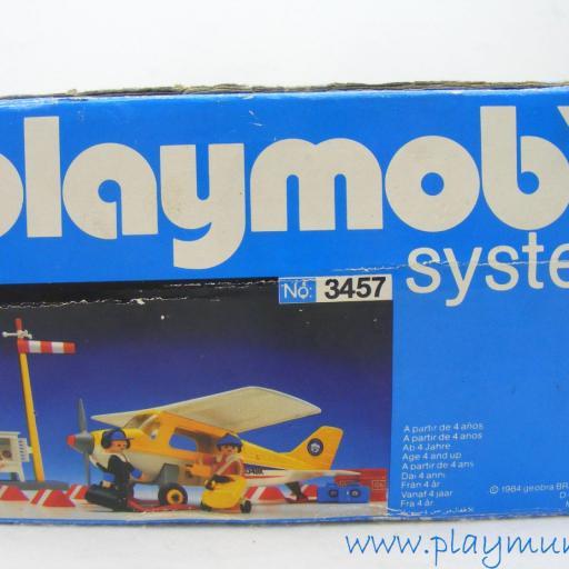 PLAYMOBIL 3457 AVION EXPEDICION POLO NORTE AVIONETA SKIS ESTACION (AÑO 1986 - 1990)version española [2]