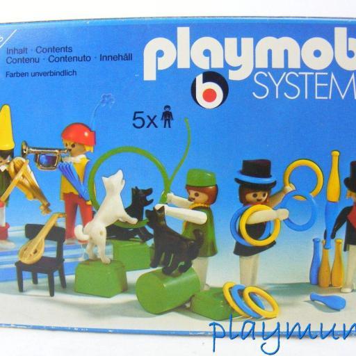 PLAYMOBIL 3513 PAYASOS , MALABARISTAS Y DOMADORA DE PERROS (AÑO 1978 - 1982) [3]