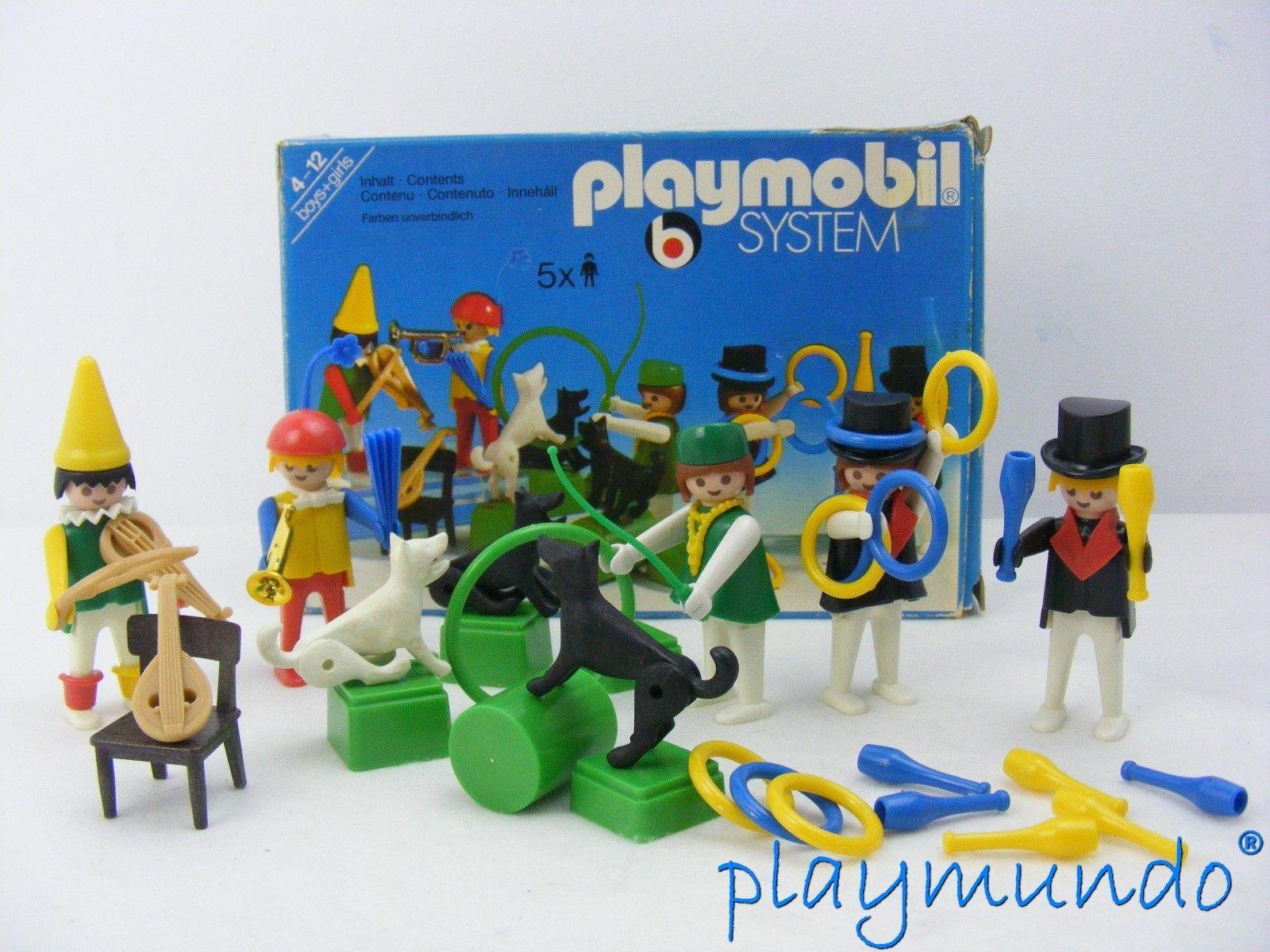PLAYMOBIL 3513 PAYASOS , MALABARISTAS Y DOMADORA DE PERROS (AÑO 1978 - 1982)