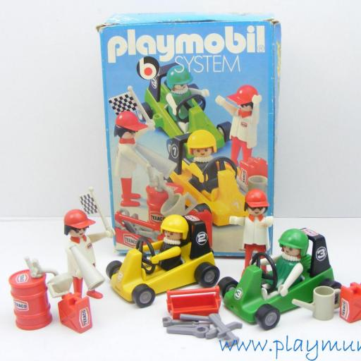 PLAYMOBIL 3523 KART CARRERAS (version 1, AÑO 1979 - 1981)