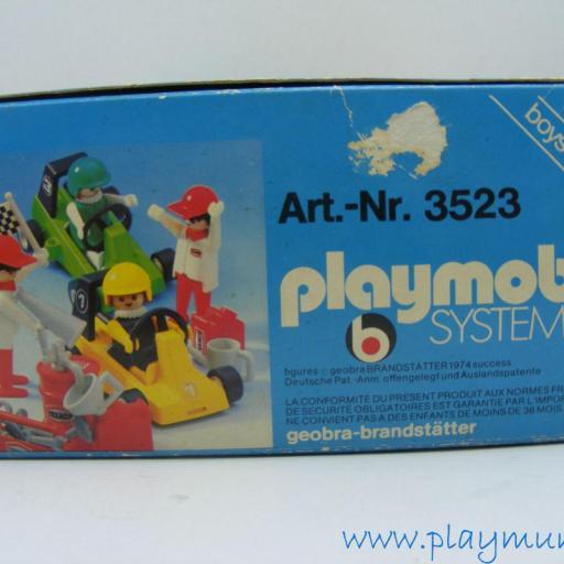 PLAYMOBIL 3523 KART CARRERAS (version 1, AÑO 1979 - 1981) [3]