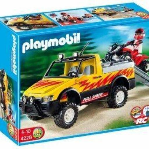 PLAYMOBIL 4228 PICK UP CON QUAD DE CARRERAS