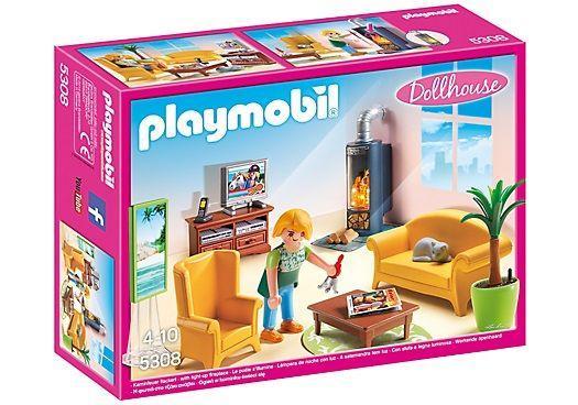 PLAYMOBIL 5308 SALA DE ESTAR CON FUEGO