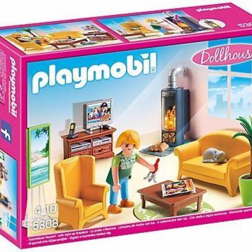 PLAYMOBIL 5308 SALA DE ESTAR CON FUEGO [0]
