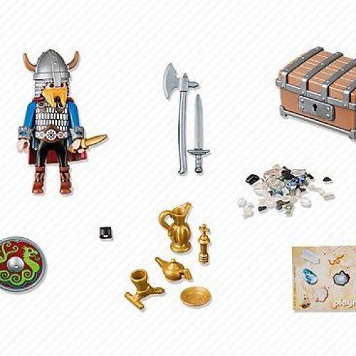 PLAYMOBIL 5371 VIKINGO CON TESORO DE ORO [1]