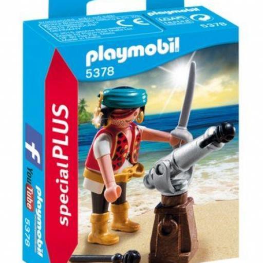 PLAYMOBIL 5378 ESPECIAL Pirata con Cañón
