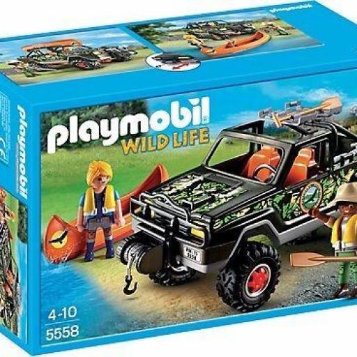 PLAYMOBIL 5558 PICKUP TODOTERRENO AVENTURA CON CANOA
