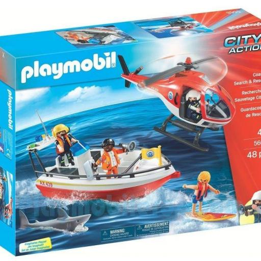 PLAYMOBIL 5668 EQUIPO  GUARDACOSTAS