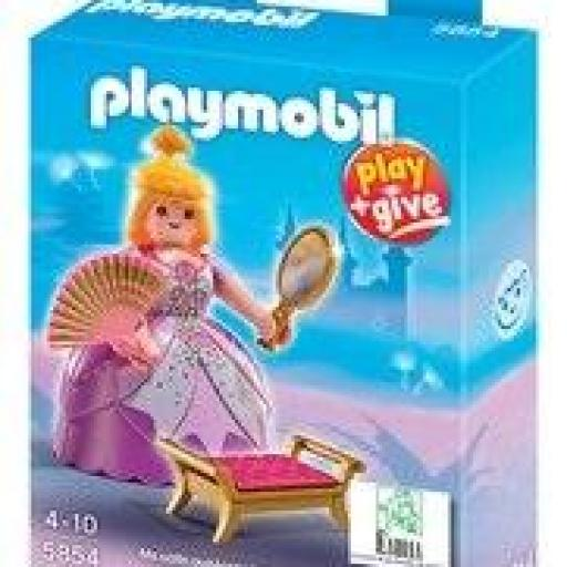 PLAYMOBIL 5854 PRINCESA MEDIEVAL PLAY AND GIVE  EXCLUSIVO GRECIA