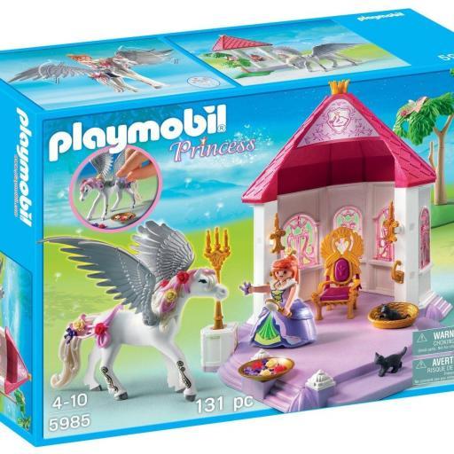 PLAYMOBIL 5985 PABELLON DE LA PRINCESA CON PEGASO