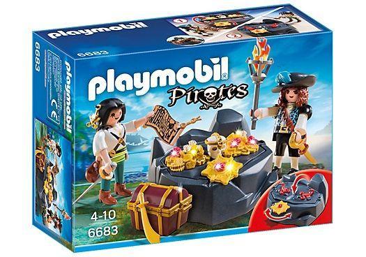 PLAYMOBIL 6683 PIRATAS CON ESCONDITE DEL TESORO