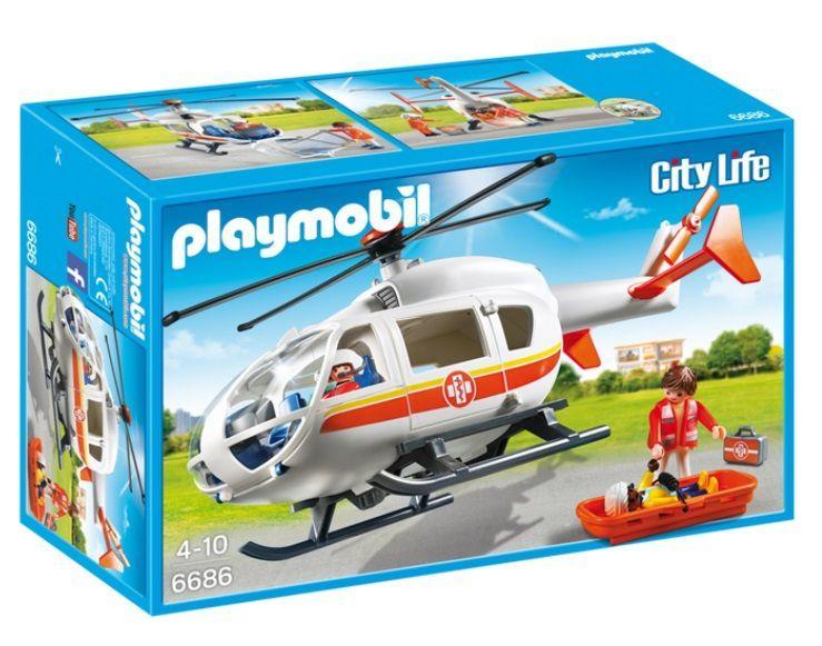 PLAYMOBIL 6686 HELICOPTERO MEDICO DE EMERGENCIA