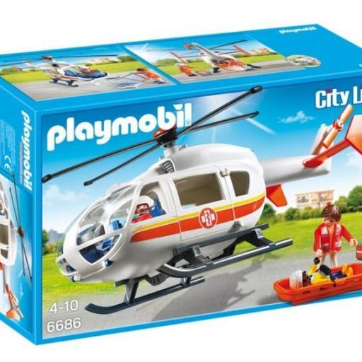 PLAYMOBIL 6686 HELICOPTERO MEDICO DE EMERGENCIA [0]