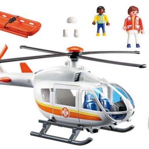PLAYMOBIL 6686 HELICOPTERO MEDICO DE EMERGENCIA [1]