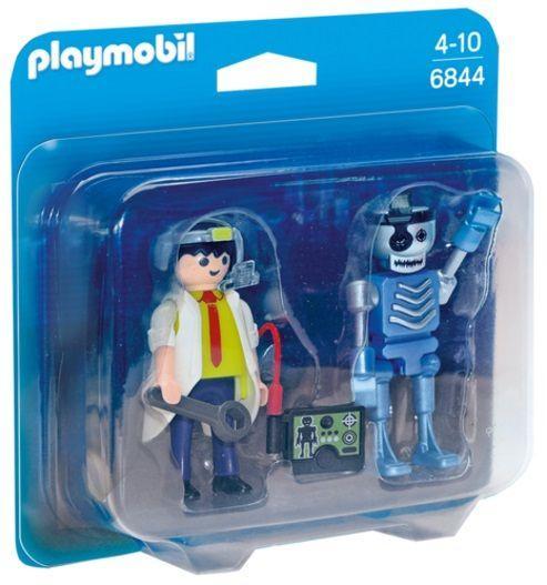 PLAYMOBIL 6844 Duo Pack Científico y Robot