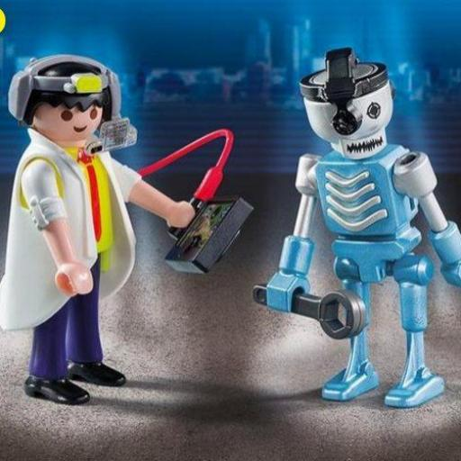 PLAYMOBIL 6844 Duo Pack Científico y Robot [1]