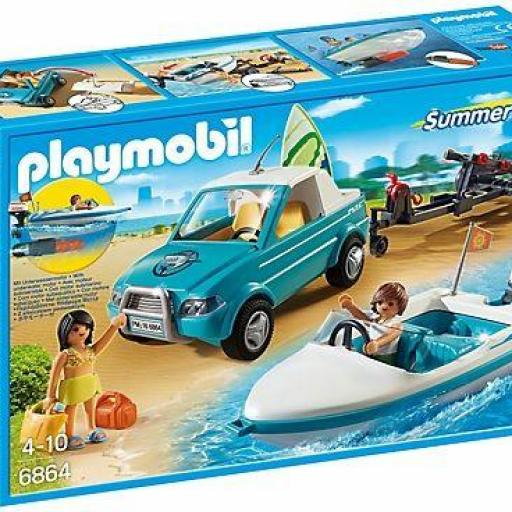 PLAYMOBIL 6864 SURFISTA CON PICK UP Y LANCHA
