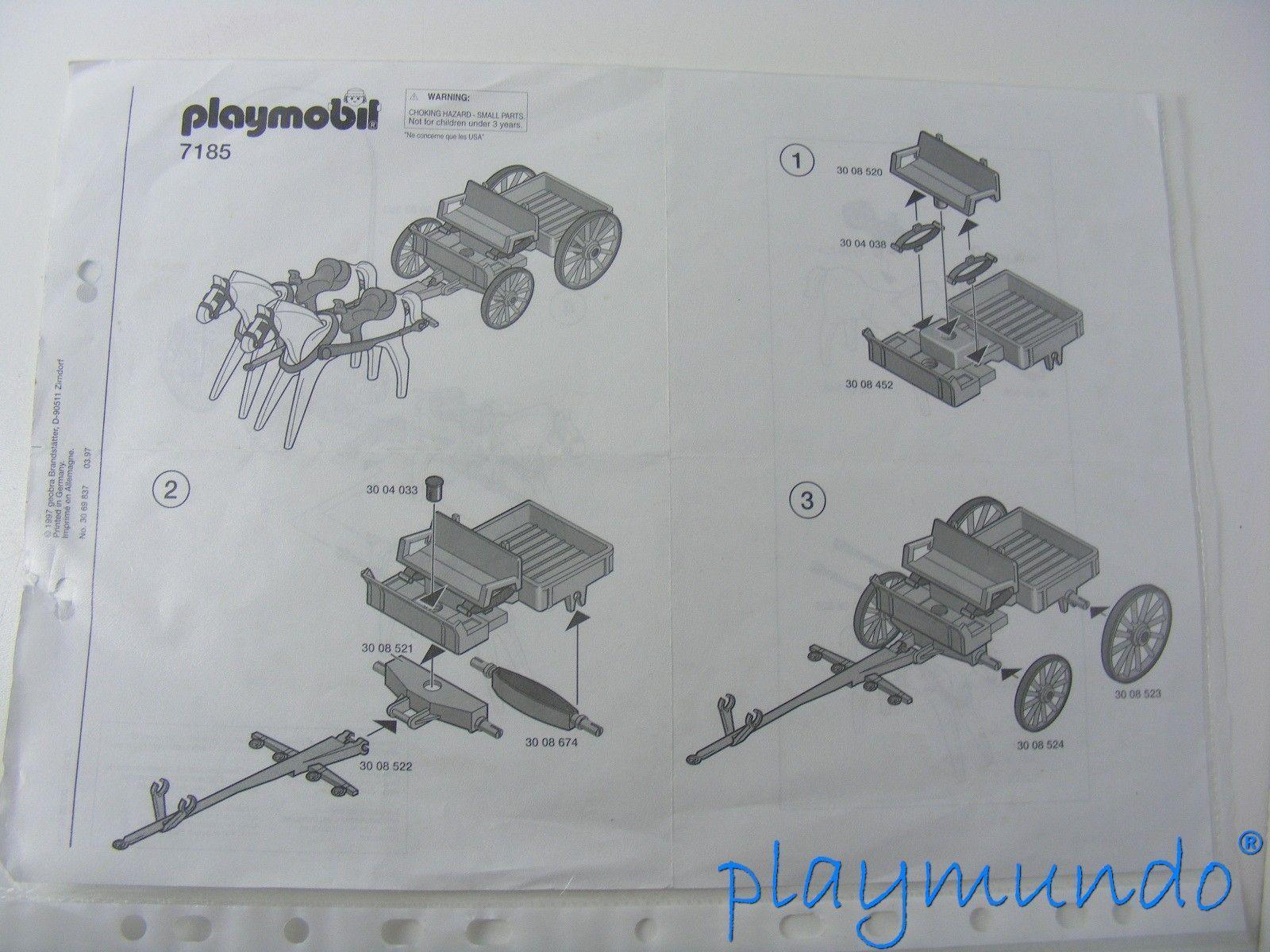 PLAYMOBIL 7185 CARRETA OESTE WESTERN