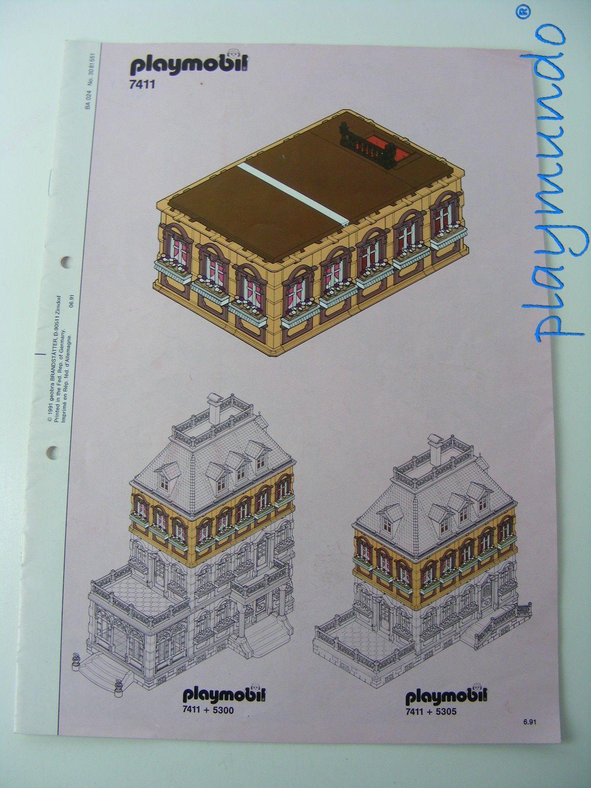 PLAYMOBIL 7411 MANUAL PISO CASA VICTORIA (COMPLEMENTO REF. 5300)