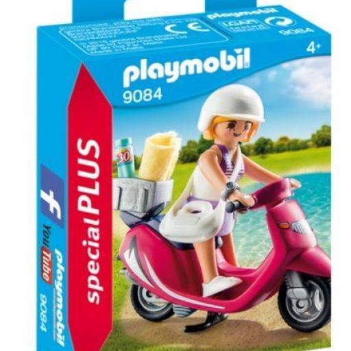 PLAYMOBIL 9084 CHICA CON CICLOMOTOR MOTO
