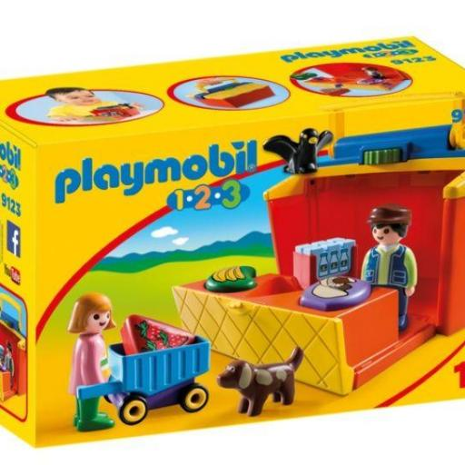 PLAYMOBIL 9123 MERCADO MALETIN