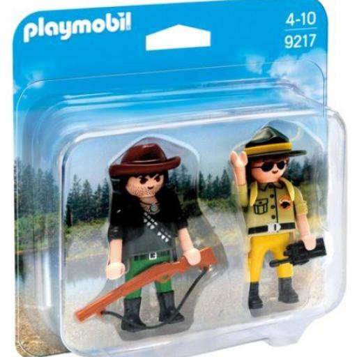 PLAYMOBIL 9217 DUO PACK RANGER Y CAZADOR FURTIVO