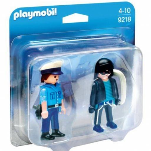 PLAYMOBIL 9218 DUO PACK POLICIA Y LADRON