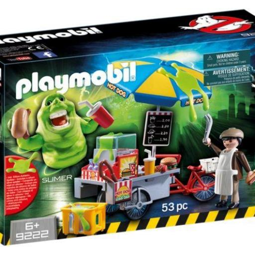 PLAYMOBIL 9222 Slimer con Stand de Hot Dog