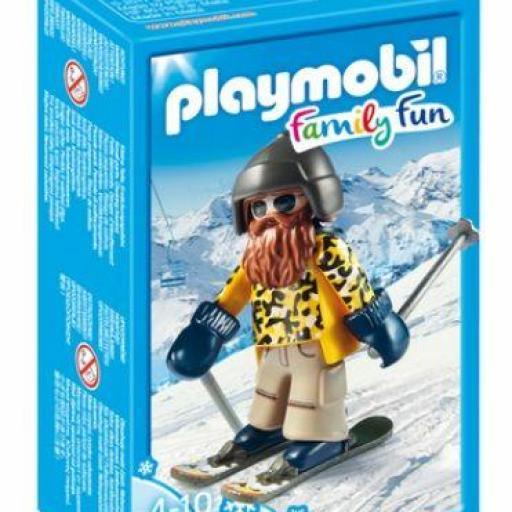 PLAYMOBIL 9284 ESQUIADOR CON SNOWBLADES