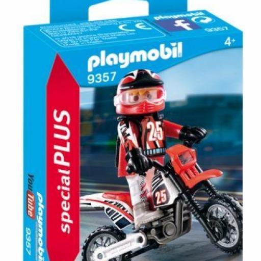 PLAYMOBIL 9357 ESPECIAL MOTO MOTOCROSS