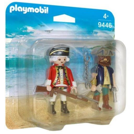 PLAYMOBIL 9446 DUO PACK PIRATA Y SOLDADO