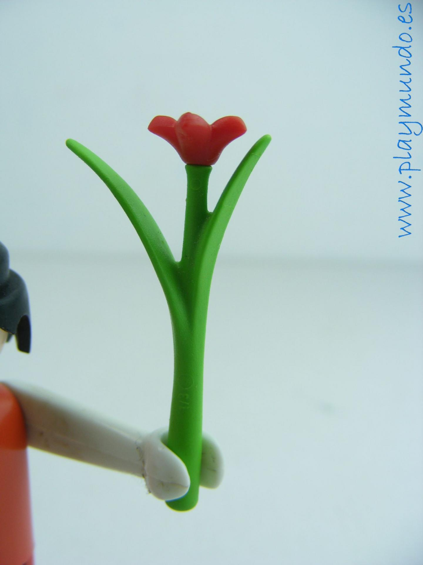 PLAYMOBIL FLOR ROJA TALLO LARGO