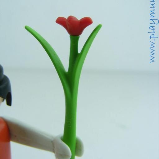 PLAYMOBIL FLOR ROJA TALLO LARGO [0]