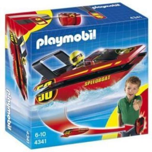 PLAYMOBIL 4341 LANCHA CARRERAS  CLICK Y GO