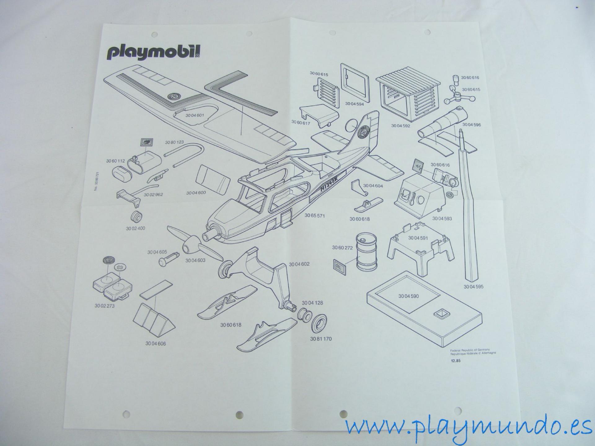 PLAYMOBIL MANUAL AVIONETA EXPEDICION POLAR 3457