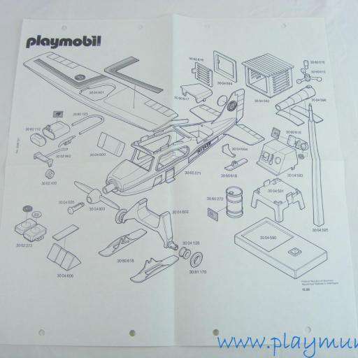 PLAYMOBIL MANUAL AVIONETA EXPEDICION POLAR 3457