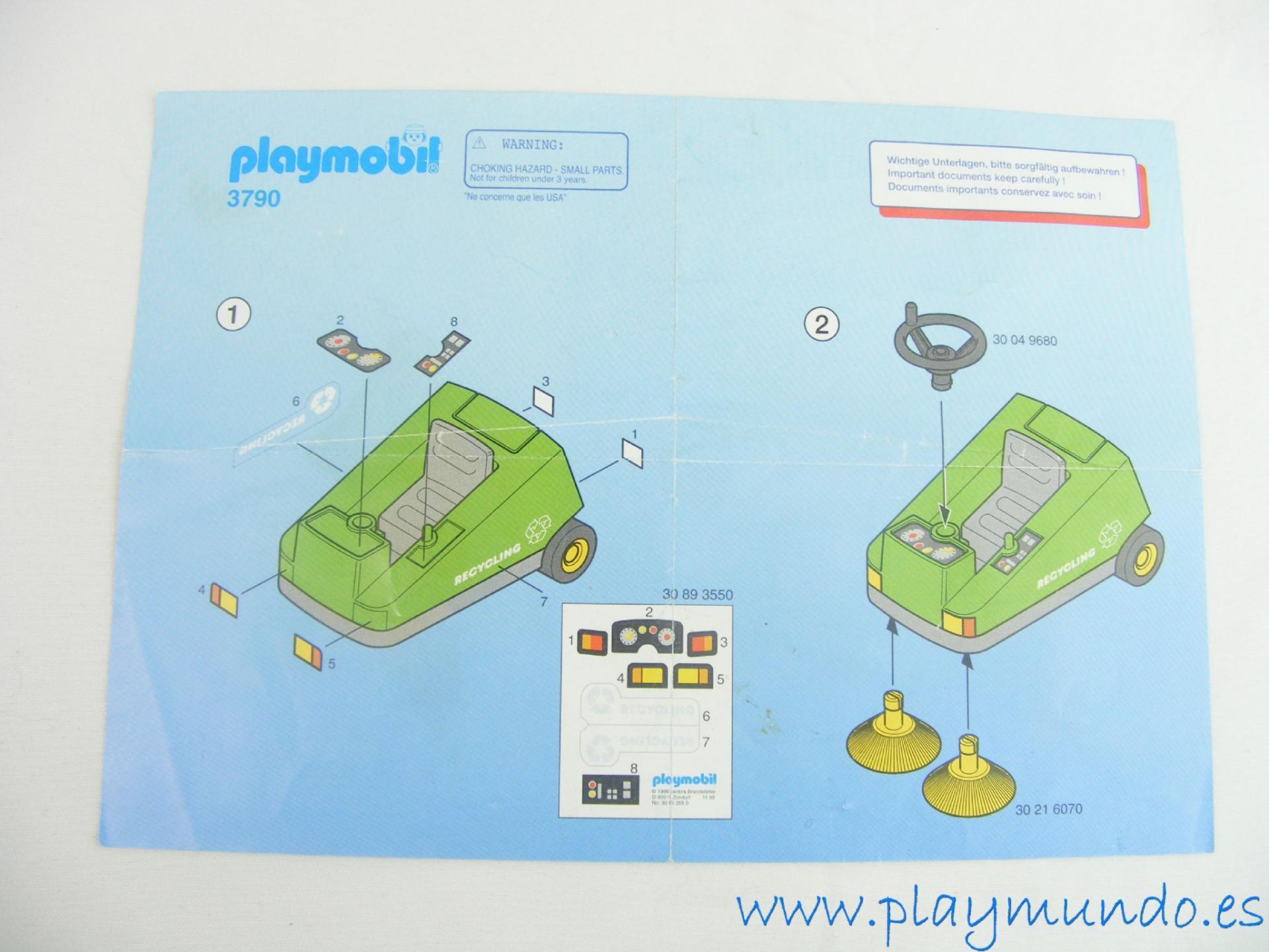 PLAYMOBIL MANUAL BARREDORA REF. 3790