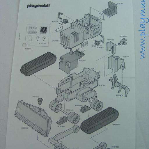 PLAYMOBIL MANUAL BULLDOZER REF. 3757