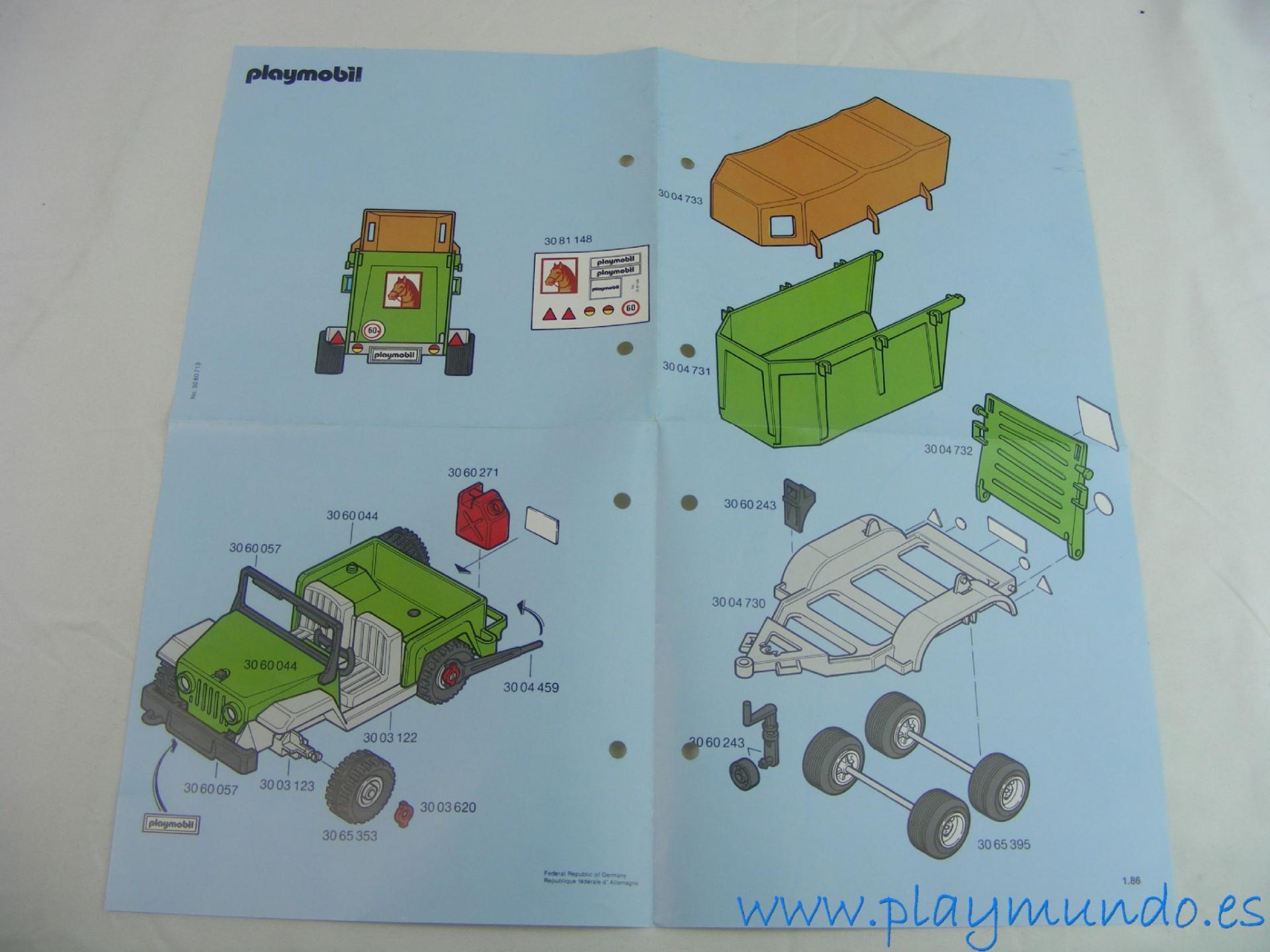 PLAYMOBIL MANUAL CONJUNTO HIPICA REF. 3140